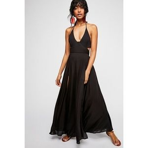 Free People Black Endless Summer Lille Maxi Dress
